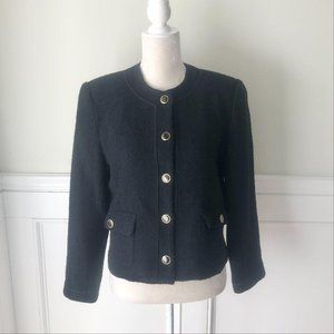Vintage Carroll Reed Wool Jacket Gold Buttons 8